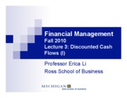 L3 - Discounted Cash Flows
