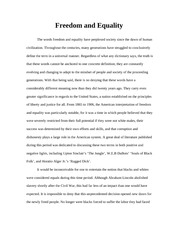 Freedom and Equality Paper 1