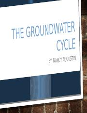 The groundwater cycle project.pptx
