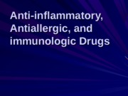 Anti-inflamm Antiallergic Immunologic Drugs- pharm