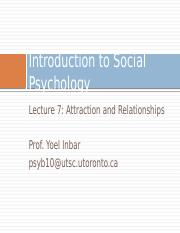 Lecture 7-Attraction and Relationships
