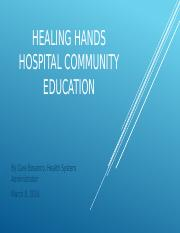 P4IP Healing Hands Hospital Community Education