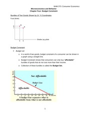 Chapter four Buget Constraint