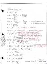 Equations Midterm 1