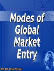 10. Modes of Foreign Market Entry.ppt