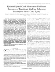 Carhart et al. - 2004 - Epidural spinal-cord stimulation facilitates recovery of functional walking