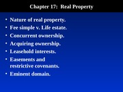 Blaw 2013: Real Property