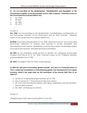 FISCAL MANAGEMENT (Rules and Budget Preparation)
