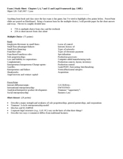 Exam 2 Study Sheet-Mgmt 120-Fall2007