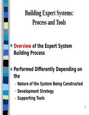 Building Expert Systems Process and Too