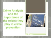 Crime Analysis Presentation