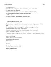 astronomy term paper