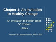 concepts of wellness ch1 an invitation to healthy change