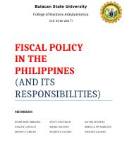 FISCAL POLICY - MONETARY (1)