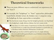 Theoretical frameworks brief introduction