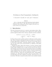 Problems in Non-Commutative Arithmetic.pdf