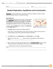 Gizmo EquilibriumConcentration Student - Name Date Student ...
