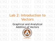 Lab 2 Introduction to Vectors