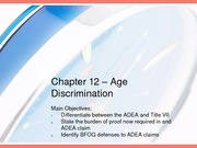 Chapter 12 - Age Discrimination