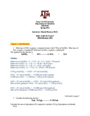 CHEM107_Exam2_Study Guide Answer