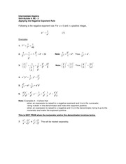 Math 1094 Applying the Negative Exponent Rule studyguide