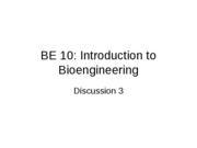 BE 10 Discussion 3