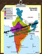 Agroclimatic Zones