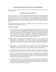 Article 4 Overview Of Public Sector Management Reform