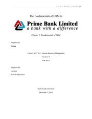 33 Fundamentals of HRM - Prime Bank Limited