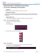 7.1.1.6 Lab - Hardening a Linux System.docx