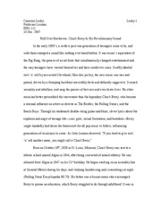Chuck Berry Final Research Paper