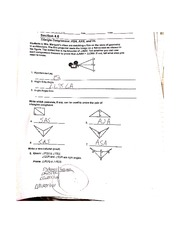 Triangle Congruencee Worksheet