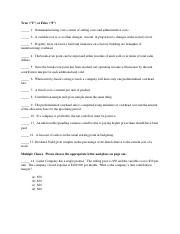 Accounting Exam (40 problems)