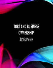 Tort And Business Ownership