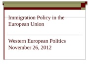 Western Europe Lecture 11-26-12