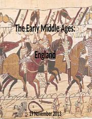 02 The Early Middle Ages - England
