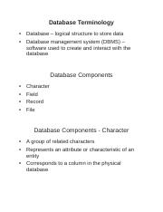 DatabaseTerminology_Notes.doc