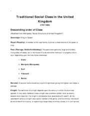 21 Traditional Social Class in the United Kingdom