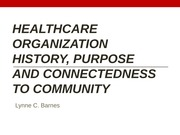 Healthcare Organization History