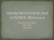 Chapter 0 - INSTRUMENTATION AND CONTROL (BEH22003)