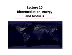 Lecture 10 Bioremediation and energy