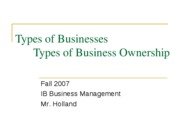 Types of Businesses (1)
