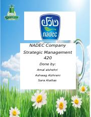 project Nadec company.docx