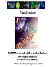 SCIE1106 Lec 6 DNA Structure 2014