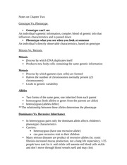 Chapter Two Notes Developmental Assessment
