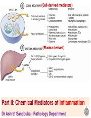 Inflammation -Part II and III Mediators and outcome