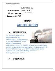 CHE 110 : environmental studies - Lovely Professional University