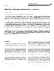 Historical landmarks of autophagy research.pdf
