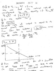 Answers of Problem Set 9