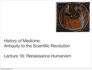AS.140.105 Lecture 16 Humanism
